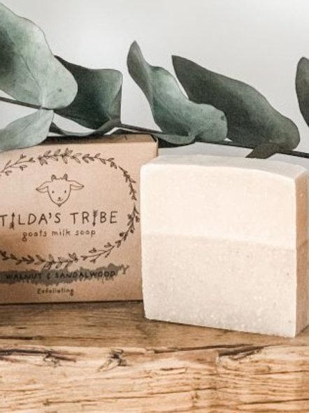 Walnut & Sandalwood Natural Goats Milk Soap Bar 100g