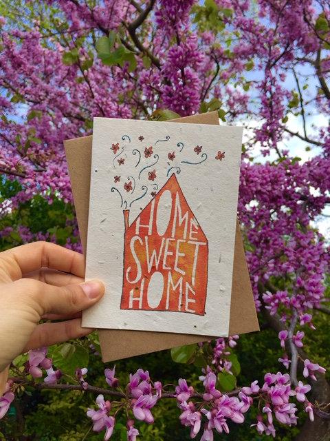 Loop Loop Home Sweet Home Plantable Wildflower Card