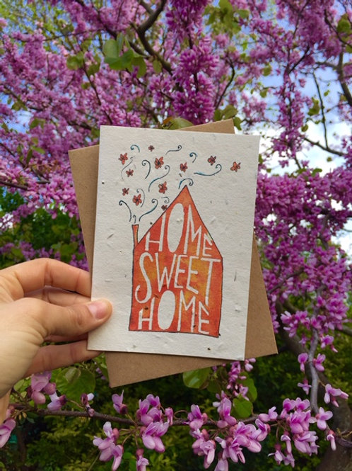 Loop Loop Home Sweet Home Plantable Wildflower Card