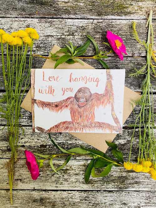 Love Hanging With You Plantable Wildflower Card - Loop Loop