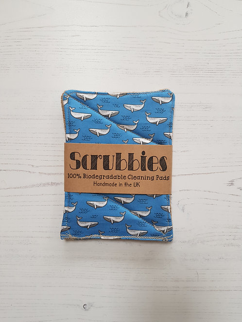 Scrubbies UK Unsponges Whale Print twin pack