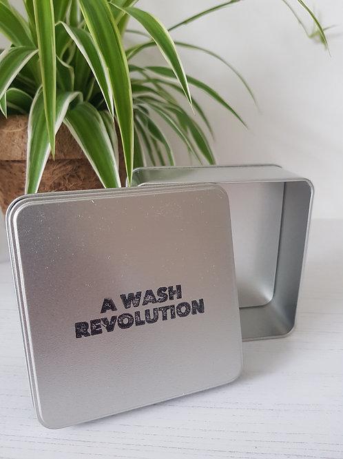 Primal suds soap tin open