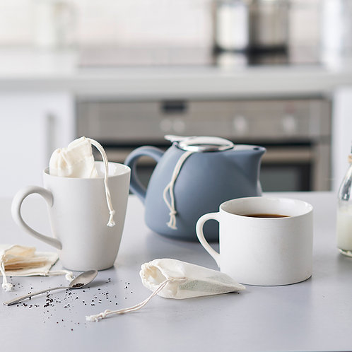 Eco Living Reusable organic cotton teabags plastic free