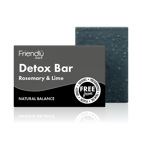 Charcoal Detox Bar Natural Handmade Soap friendly Soap