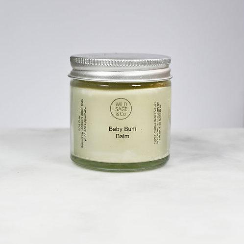 Wild Sage and Co baby bum balm 60 ml glass jar