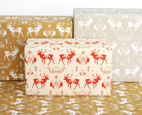 Happy Wrap Recycled Christmas wrapping paper 3 pk plastic free biodegradeable