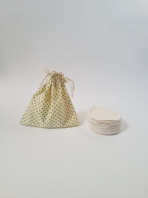 Leave no trace reusable cotton pads side view