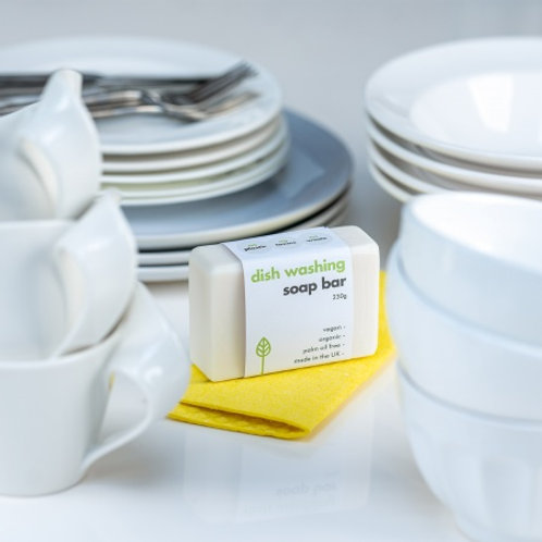 Eco Living washing up dish bar made in the uk in kitchen