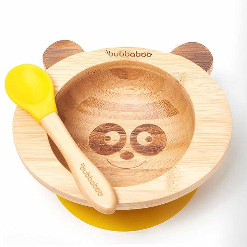 Organic Bamboo Baby Bowl Set - Yellow - Bubbaboo