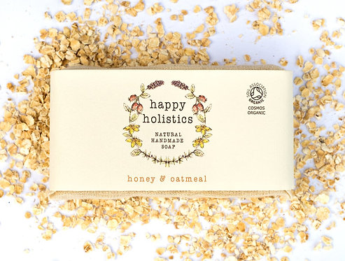 Happy Holistics honey and oatmeal organic soap