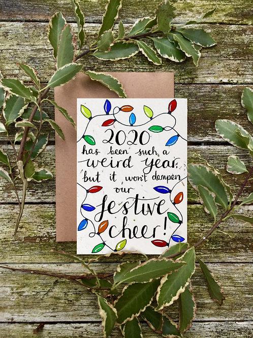 Festive Cheer - Plantable Wildflower Card - Loop Loop Front