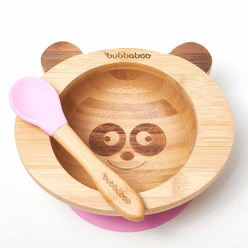 Organic Bamboo Baby Bowl Set - Pink - Bubbaboo
