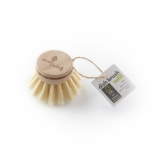 Eco Living wooden dish brush replacement head