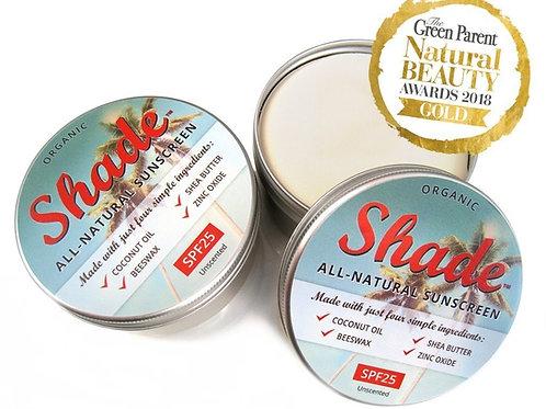 Shade all natural sunscreen in aluminium tin plastic free