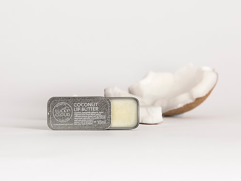 Lucky Cloud Coconut lip butter lip balm with coconut