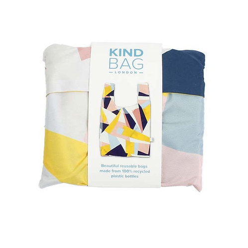 Mosaic Reusable Shopping Bag - Kind Bag Pouch in packaging
