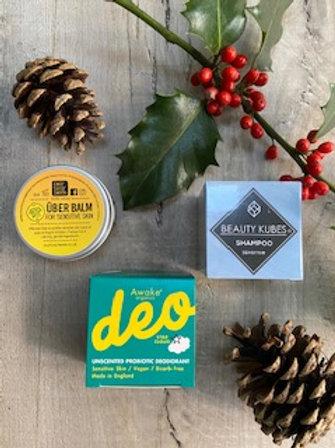Sensitive Skincare Gift Set - Beauty Kubes Awake Organics Our Tiny Bees - Eco Green Revolution