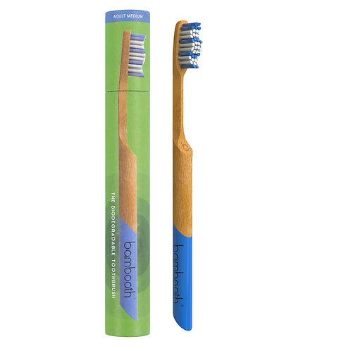 Adult Bamboo Toothbrush Medium - Sea Blue - Bambooth