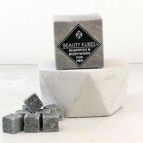 Beauty Kubes Shampoo & Body Wash For Men grey cubes