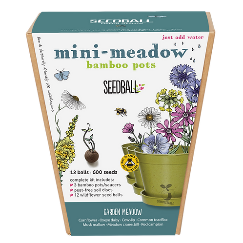 Garden Meadow Mini Meadow Gift Set Seedball Front view