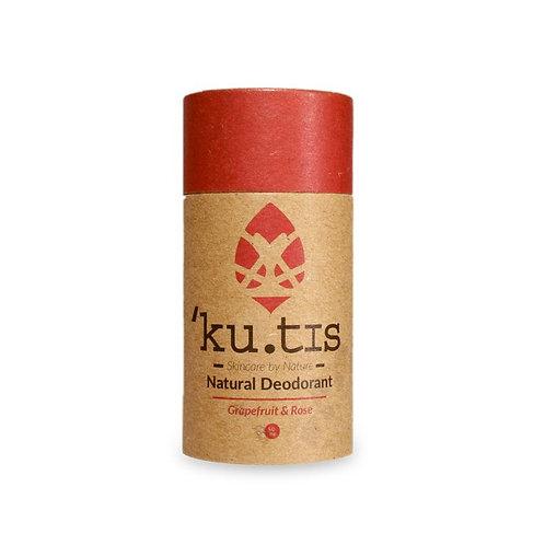 Grapefruit & Rose Natural Deodorant Kutis Skincare 55g