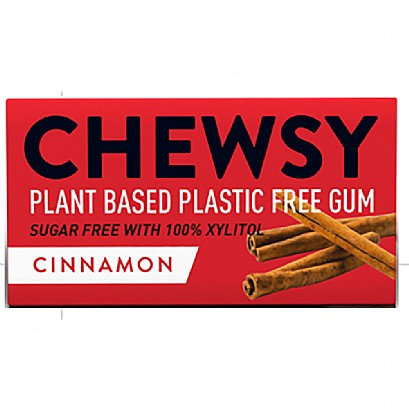 Chewsy - Cinnamon Flavoured Plastic Free Vegan Plant Based Chewing Gum