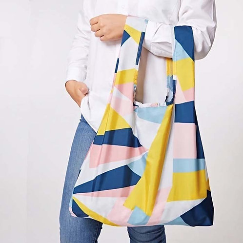 Mosaic Reusable Shopping Bag - Kind Bag in hands