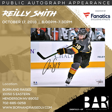 Fanatics is excited to announce a public autograph signing with Vegas  Golden Knights Reilly Smith and Jonathan Marchessault at Born and Raised in  Henderson b879eea74