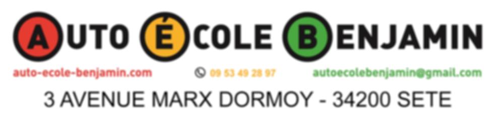 Logo Auto Ecole Benjamin - Nouvelle Adre