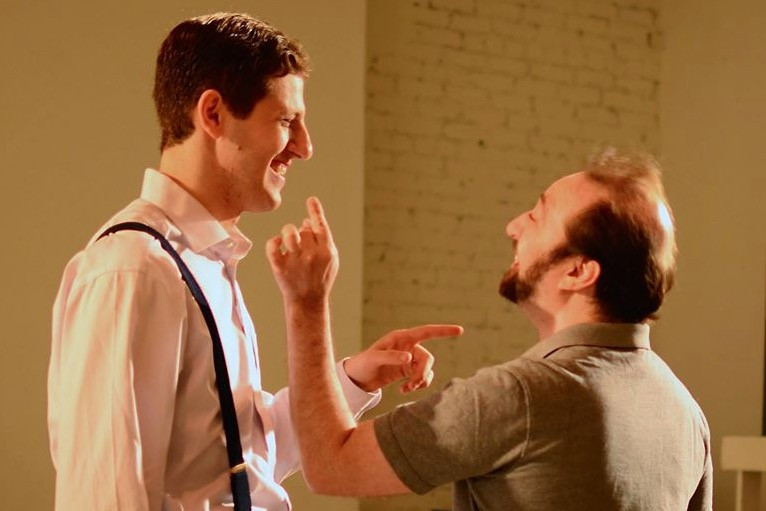 David Federman as Lorzenzo (left) and William Downes as Gratiano (right)