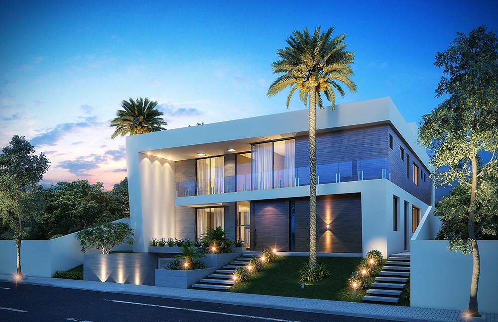 Fachada residência de luxo