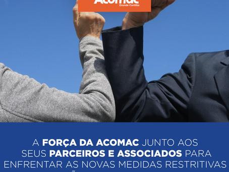 Acomac Grande Curitiba realiza reuniões com autoridades e presta orientação a comerciantes associado