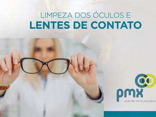 Como limpar os óculos de grau e as lentes de contato