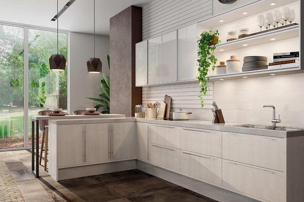 espaço funcional na cozinha