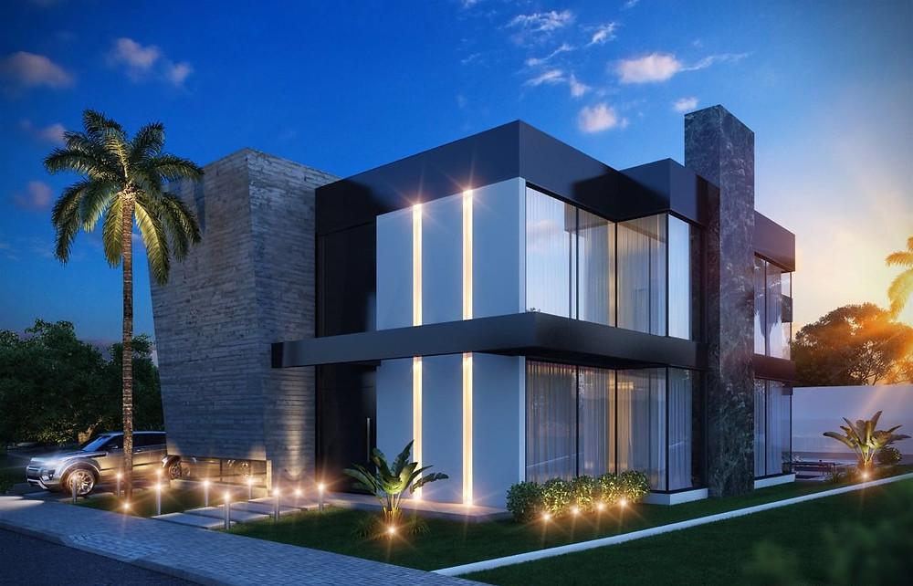 Fachada casa alto padrão