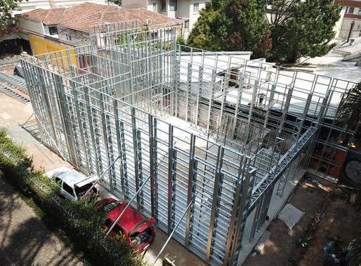 Arquitetura sustentável: construções com steel frame proporcionam obra limpa, rápida e segura