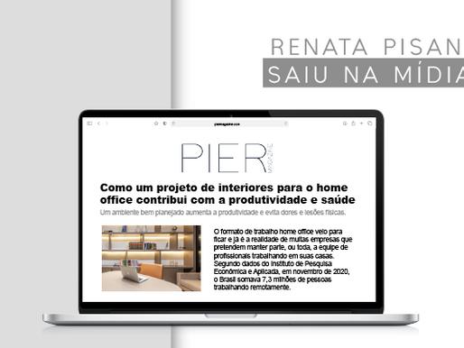 Espaços Home Office são destaque na mídia com dicas da arquiteta Renata Pisani