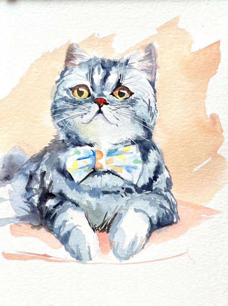Paint Pet with watercolor