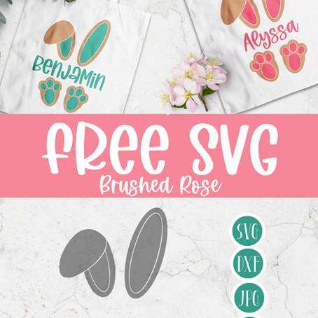 Free SVG Easter Bunny Monogram