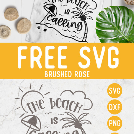 Free SVG The beach is calling