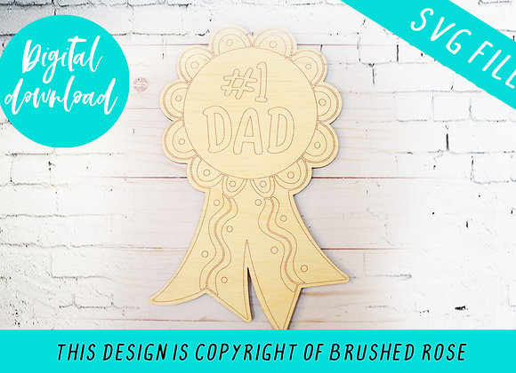 Number 1 dad medal laser file