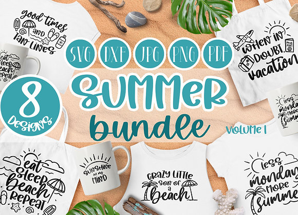 Summer SVG bundle | Summer SVG cut files | Beach clipart Crafters SVGs Cut Files