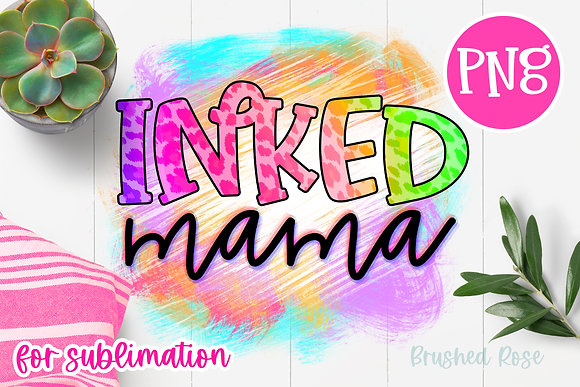 inked Mama Sublimation| cheetah leopard print PNG| tattoos