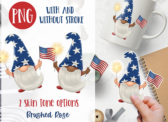 Fourth of July gnome |Summer Gnome |Sublimation or sticker