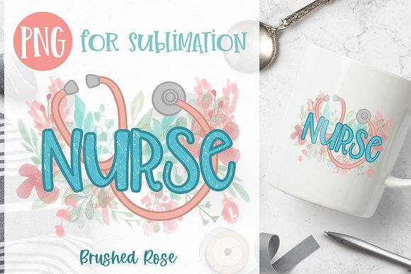 Nurse Sublimation  Watercolor flowers PNG   Stethoscope