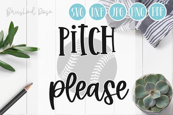 pitch please svg, baseball svg, funny, sarcastic