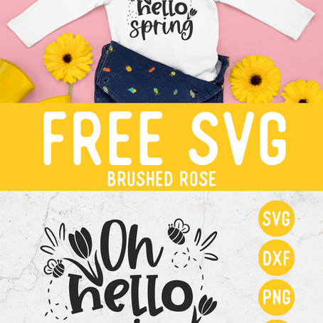 Free SVG Oh hello Spring