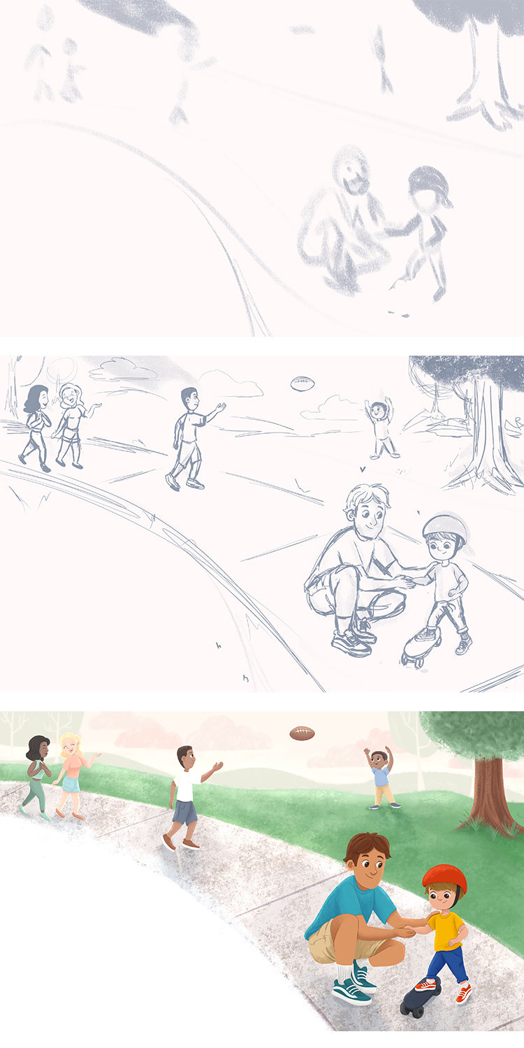 Personal - At the Park - Process