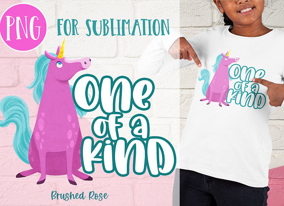 One of a kind unicorn PNG Sublimation   Hand drawn design