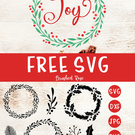 Free Christmas wreathes and leaves SVG